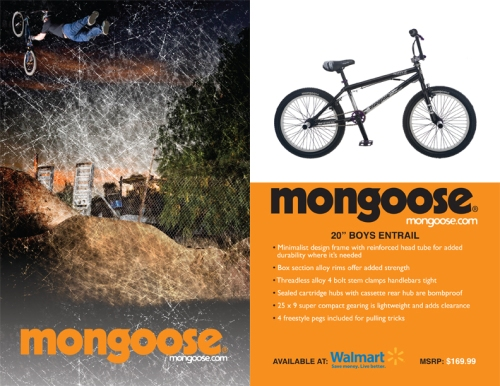 bicycle, hangtag, mongoose, bikes, bmx, walmart